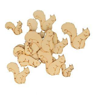 30 mini wooden shapes - Squirrel