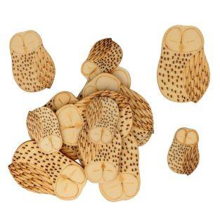 30 mini wooden shapes - Owl