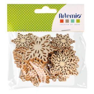 30 mini wooden shapes - Snowflake