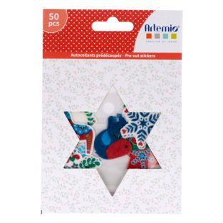 50 washi paper stickers - Folk