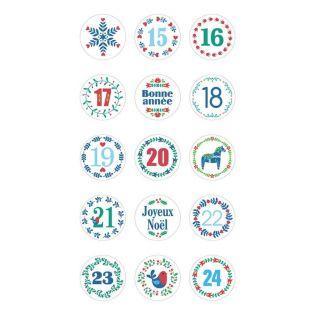 Stickers ronds Calendrier de l'Avent...