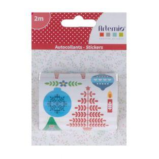 Roll of Christmas stickers 2 m - Folk