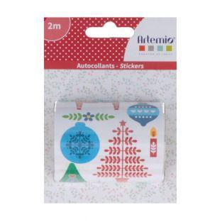 Rouleau de stickers de Noël 2 m - Folk
