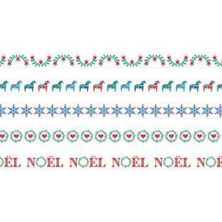5 masking tapes de Noël 5 m x 1,5 cm...