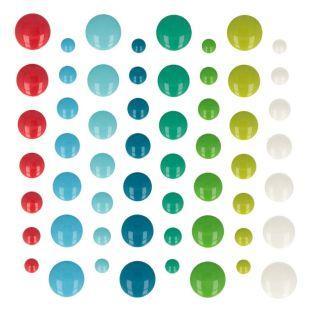 64 cuentas adhesivas de esmalte - Folk