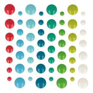 64 demi-perles autocollantes en émail...