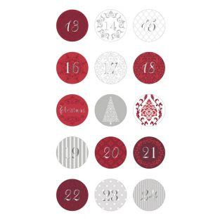 Round stickers for Advent Calendar -...