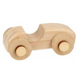 2 wooden miniature cars to decorate...