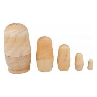 5 Muñecas rusas de madera para decorar