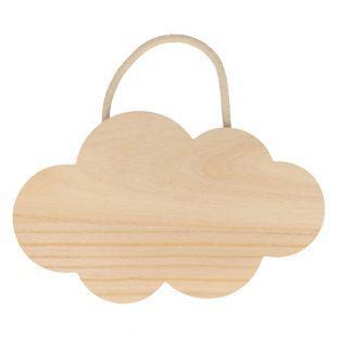 Holzwolke zum Aufhängen 25 x 15 cm