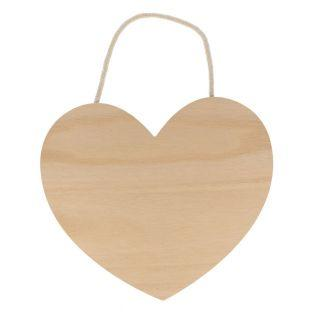 Corazón de madera colgante 25 x 22 cm