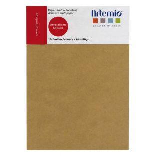 10 hojas de papel kraft adhesivo A4