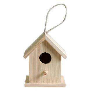 Hölzernes Vogelhaus zum Aufhängen 13...