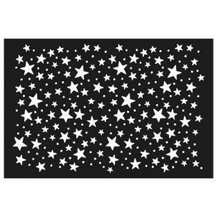 Plastikschablone 15 x 10 cm - Sterne