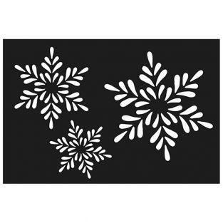 Plastikschablone - Schneeflocken