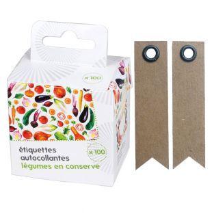 100 étiquettes pour conserves Légumes...
