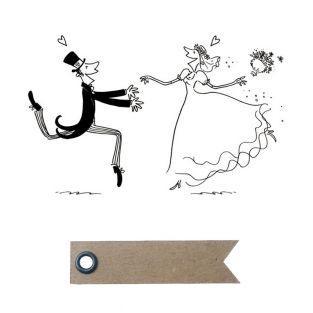 Holzstempel - Heirat + 20 Wimpel...