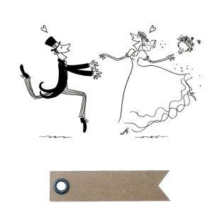 Wood stamp - Wedding + 20 pennant...