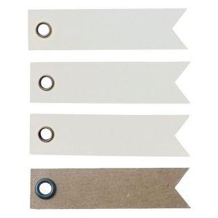 100 étiquettes blanches Fanion + 20...