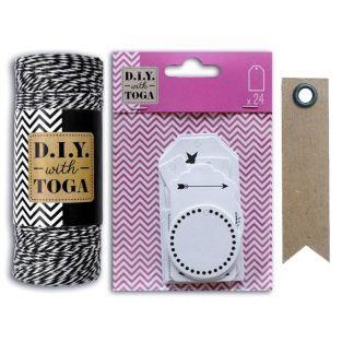 24 white perforated labels + black &...