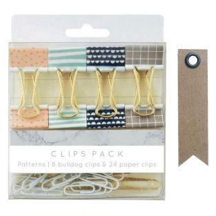 8 wire clips & 24 paperclips -...