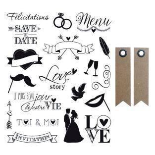 Wedding Clear stamps - 14 x 18 cm +...