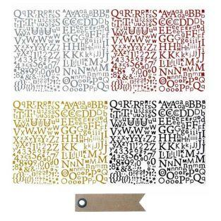 Kit glitter alphabets Stickers + 20...