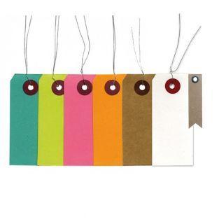 140 étiquettes multicolores 9 x 4 cm...