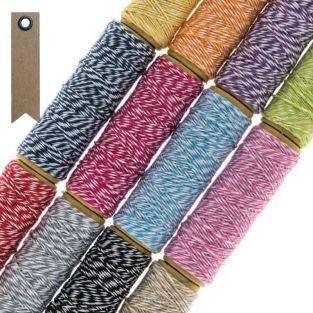 12 ficelles multicolores 10 m + 20...