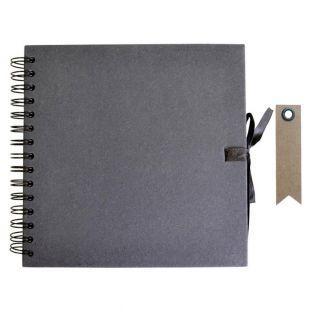 Carnet Scrapbooking 20 x 20 cm Noir +...