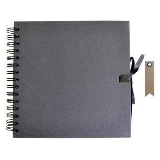 Carnet Scrapbooking 30 x 30 cm Noir +...
