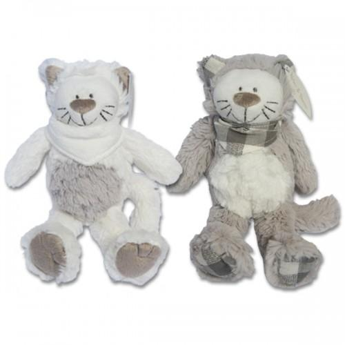 Peluche Chat gris-blanc