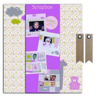 Caja DIY de nacimiento - muchacha +...