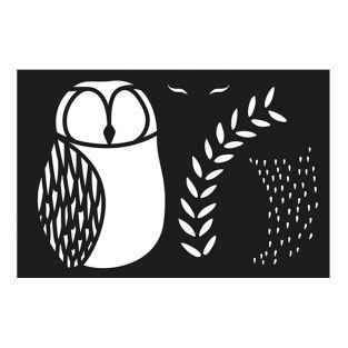 Owl plastic stencil