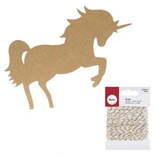 Silueta de madera mdf Unicornio 15 cm...