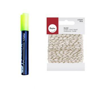 Chalk marker 6 mm Yellow + golden &...