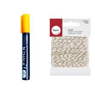 Chalk marker 6 mm Orange + golden &...