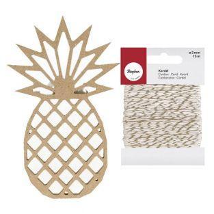 Origami Holz MDF Figur Ananas 15 cm +...