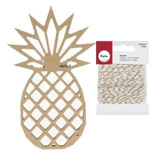 Silueta de madera MDF Piña de origami...