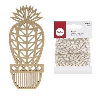 MDF wooden origami silhouette Cactus...