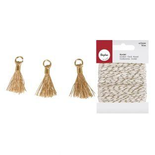 3 Mini-tassels with eyelet 15 mm...