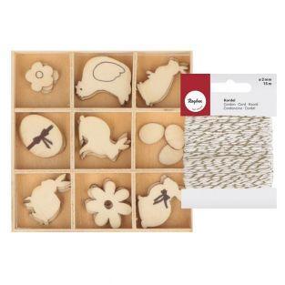 27 Mini-Holz-Figuren- Ostern +...
