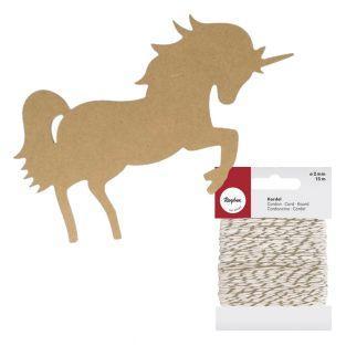 Sagoma in legno MDF Unicorno 25,5 cm...