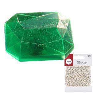 Mini Soap mold Diamond rectangle +...