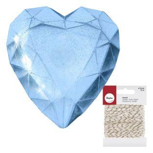 Mini Soap mold Diamond Heart + golden...
