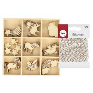 27 mini sagome in legno Arcobaleno +...