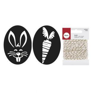 Rubber stamps for DIY soap x 2 Rabbit...