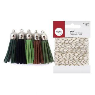 5 suede Tassels 3.6 cm shades of...