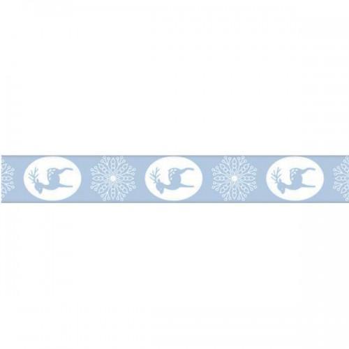 Masking Tape Renne bleu clair