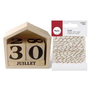 Perpetual Calendar Wooden House 7.3 x...